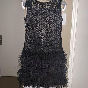 Zara feathered dress